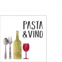 Servietten 25x25 cm - Pasta & Vino