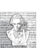 Servietten 25x25 cm - Beethoven