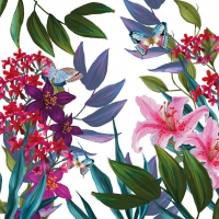Servietten 25x25 cm - Tropical Lilies