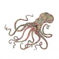 Servietten 25x25 cm - Green Octopus