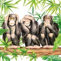 Servietten 25x25 cm - Three Apes