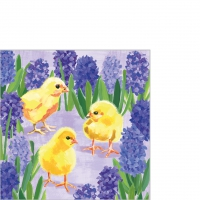Servietten 25x25 cm - Chicks in Hyacinth