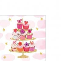 Servietten 25x25 cm - Happy Cupcakes