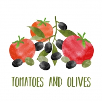 Servietten 25x25 cm - Tomatoes & Olives
