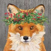 Servietten 25x25 cm - Winter Berry Fox Napkin 25x25