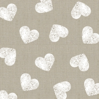 Servietten 33x33 cm - Fashion Hearts