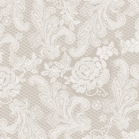 Servietten 33x33 cm - Lace Royal taupe