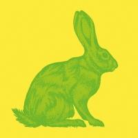 Lunch Servietten Mod Rabbit lime yellow