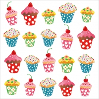 Servietten 33x33 cm - Sweet Cupcakes