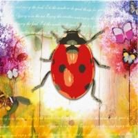Lunch Servietten Ladybug & Flowers