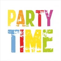 Lunch Servietten It´s Party Time white