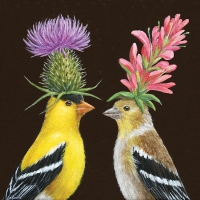 Servietten 33x33 cm - Goldfinch Couple