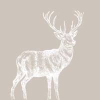 Lunch Servietten Mod Deer taupe