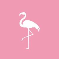 Servietten 33x33 cm - Pink Flamingo