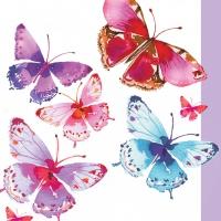 Servietten 33x33 cm - Aquarell Butterflies