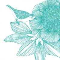 Servietten 33x33 cm - Victoria Blume