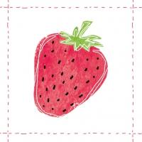 Lunch Servietten Fashion Strawberry