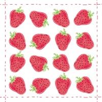 Lunch Servietten Fashion Strawberry allover