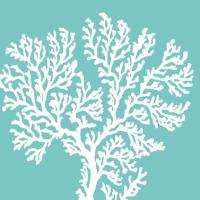 Servietten 33x33 cm - Riviera Coral aquacm