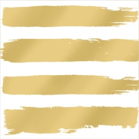 Servietten 33x33 cm - Fashion Stripes gold