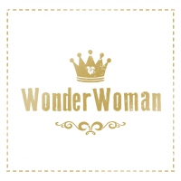 Servietten 33x33 cm - Wonder Woman gold