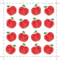 Lunch Servietten Fashion Apple allover red
