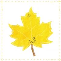 Servietten 33x33 cm - Fashion Leaf