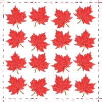 Servietten 33x33 cm - Fashion Leaf allover red