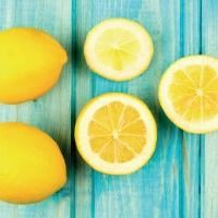 Lunch Servietten Citrus on Wood