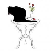 Servietten 33x33 cm - Black Cat Bath FSC