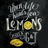 Servietten 33x33 cm - Tafel Zitronen