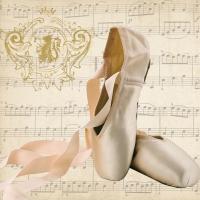 Servietten 33x33 cm - Concerto Ballet