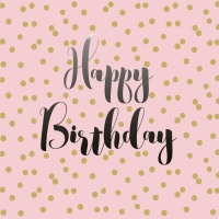 Servietten 33x33 cm - Birthday Confetti rosé 33x33 cm