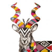 Servietten 33x33 cm - Regalia Kudu