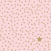 Servietten 33x33 cm - Der Sternengeld-Rosé
