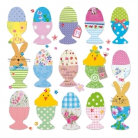 Servietten 33x33 cm - Easter Eggs