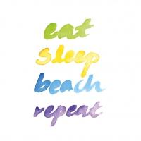 Lunch Servietten Beach Repeat