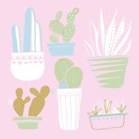 Lunch Servietten Cactus Collage