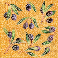 Servietten 33x33 cm - Mosaique Olives