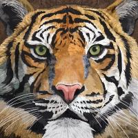 Servietten 33x33 cm - Sauvage Tiger
