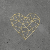 Servietten 33x33 cm - Geometric Heart