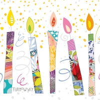 Servietten 33x33 cm - Birthday Candles