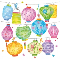 Servietten 33x33 cm - Colorful Lanterns