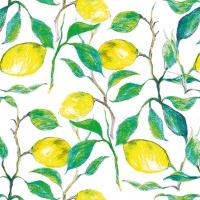 Servietten 33x33 cm - Schöne Zitronen