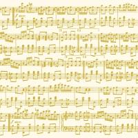 Servietten 33x33 cm - Musica Oro
