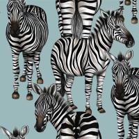 Servietten 33x33 cm - Zebras