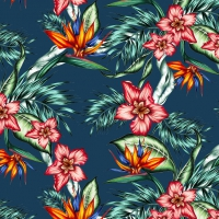 Servietten 33x33 cm - Tropical Flowers