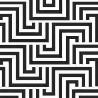 Servietten 33x33 cm - Quadratische Linien schwarz