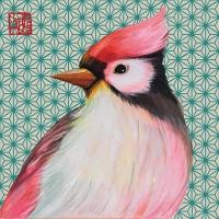 Servietten 33x33 cm - Oiseau Japonais