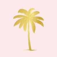 Servietten 33x33 cm - Palm Fantasy pastel rosé